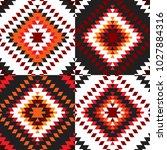 seamless pattern turkish carpet ... | Shutterstock .eps vector #1027884316