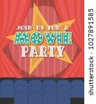 invitation for movie party ... | Shutterstock .eps vector #1027891585