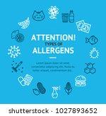 allergens types infographics... | Shutterstock .eps vector #1027893652