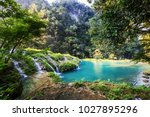 beautiful natural pools in... | Shutterstock . vector #1027895296