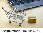 online shopping   ecommerce and ... | Shutterstock . vector #1027897678