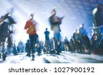 abstract blurred people moving... | Shutterstock . vector #1027900192
