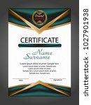 vertical certificate or diploma ... | Shutterstock .eps vector #1027901938