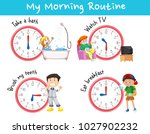 chart showing different morning ...   Shutterstock .eps vector #1027902232
