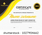 certificate template with...   Shutterstock .eps vector #1027904662
