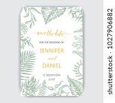 wedding invitation   hand drawn ... | Shutterstock .eps vector #1027906882