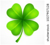lucky clover leaf  four... | Shutterstock .eps vector #1027907128