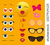 emoji maker  smiley creator.... | Shutterstock .eps vector #1027919125