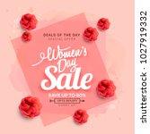international womens day sale...   Shutterstock .eps vector #1027919332