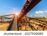 mining belt  dredging belt | Shutterstock . vector #1027920085