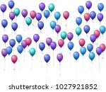 balloons group isolated vector... | Shutterstock .eps vector #1027921852