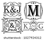 set of monogram and name... | Shutterstock .eps vector #1027924312