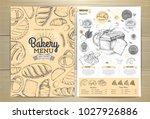 vintage bakery menu design.... | Shutterstock .eps vector #1027926886