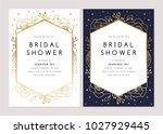 bridal shower invitation... | Shutterstock .eps vector #1027929445
