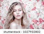 beautiful romantic young woman... | Shutterstock . vector #1027932802
