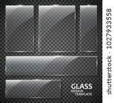 glass plates set. glass banners ...   Shutterstock .eps vector #1027933558