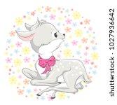animal illustration cute little ... | Shutterstock .eps vector #1027936642