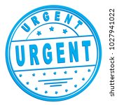 "rubber stamp with text ""urgent"" ... 