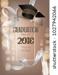 graduation party 2018 beige... | Shutterstock .eps vector #1027942066
