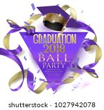 graduation 2018  ball party... | Shutterstock .eps vector #1027942078