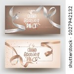 grand opening banners with... | Shutterstock .eps vector #1027942132