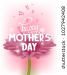 mother's day greeting card with ... | Shutterstock .eps vector #1027942408