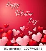 happy valentine card template...   Shutterstock .eps vector #1027942846