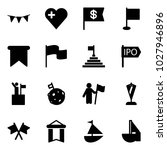 solid vector icon set   flag... | Shutterstock .eps vector #1027946896