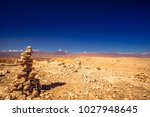 view on rock formation in moon...   Shutterstock . vector #1027948645