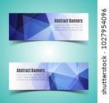 set of abstract  horizontal... | Shutterstock .eps vector #1027954096