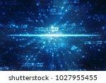 digital abstract technology... | Shutterstock . vector #1027955455