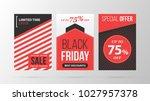 three vertical black friday... | Shutterstock .eps vector #1027957378