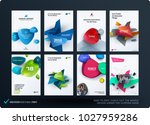 set of design brochure ... | Shutterstock .eps vector #1027959286