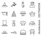 flat vector icon set   witch... | Shutterstock .eps vector #1027960558