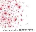 delicate apricot or japanese... | Shutterstock .eps vector #1027962772
