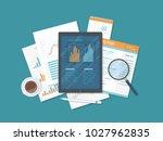 mobile auditing  data analysis  ... | Shutterstock .eps vector #1027962835