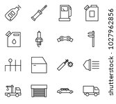 flat vector icon set   car key... | Shutterstock .eps vector #1027962856