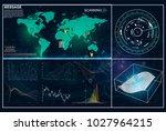 hud.radar screen. vector...