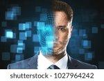 portrait of handsome...   Shutterstock . vector #1027964242