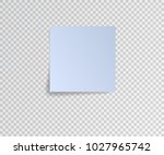 paper sticker with shadow on... | Shutterstock .eps vector #1027965742