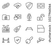 flat vector icon set   link... | Shutterstock .eps vector #1027966066