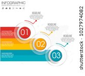 3 parts infographic design... | Shutterstock .eps vector #1027974082