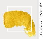 gold hand drawn paint brush... | Shutterstock .eps vector #1027977412