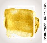 gold hand drawn paint brush... | Shutterstock .eps vector #1027978006