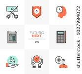 modern flat icons set of... | Shutterstock .eps vector #1027984072