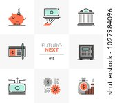 modern flat icons set of... | Shutterstock .eps vector #1027984096