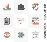 modern flat icons set of... | Shutterstock .eps vector #1027984105