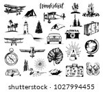 wanderlust hand lettering in... | Shutterstock .eps vector #1027994455