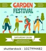 garden festival. color poster... | Shutterstock .eps vector #1027994482