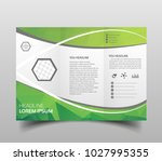vector modern tri fold brochure ... | Shutterstock .eps vector #1027995355